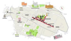 Mapa de localización de actividades.
