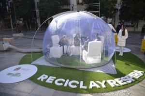 Burbuja que filtra el aire de la campaña.