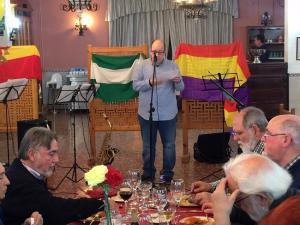 José María García Labrac, durante su intervención en la cena republicana.