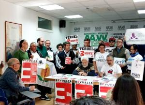 Presencia de las plataformas en la rueda de prensa en Madrid.