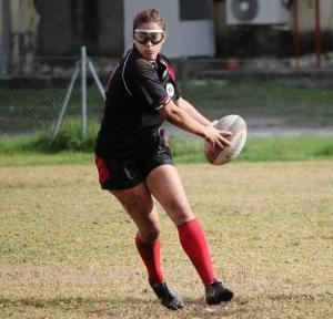 La jugadora Marta Carmona, que estudia Enfermería.