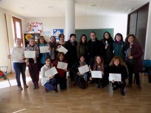 Algunas de las participantes, en la clausura del programa.