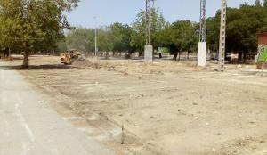 Obras de acondicionamiento del nuevo recinto ferial.