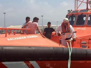 La moto acuática fue interceptada al sur de Cerro Gordo.