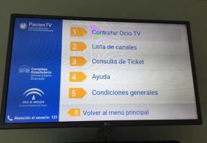 Una televisión de pago en un hospital.