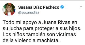 Detalle de la cuenta de twitter de la presidenta andaluza.