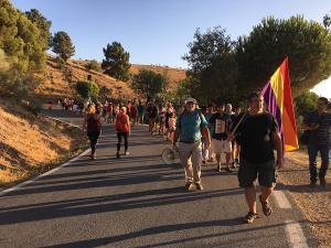 Imagen de la marcha entre Víznar y Alfacar celebrada este miércoles.