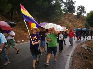 Recreación del 'último paseo' entre Víznar y Alfacar.