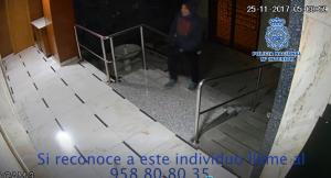 Captura de uno de los vídeos difundidos por la Policía Nacional.