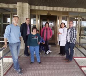 Visita de asociaciones de pacientes al hospital de Baza.