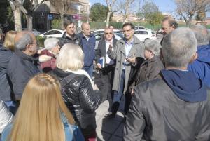 El alcalde, este jueves, en una visita al Camino Bajo de Huétor.