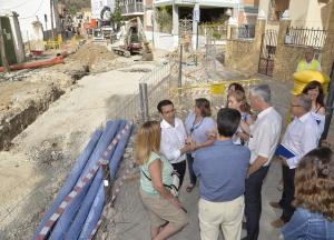 Una imagen de las obras, visitadas este jueves por el alcalde.