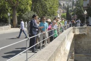 El alcalde informa de la instalación de la barandilla en el Puente Verde.
