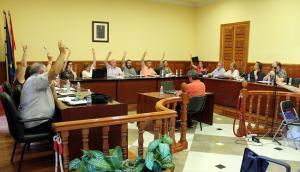 Votación de los presupuestos de Atarfe.
