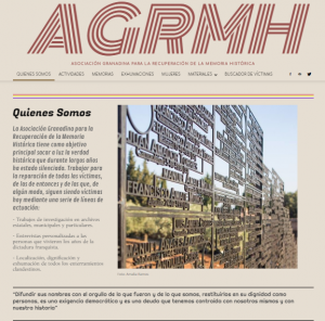 Captura de pantalla de la nueva web de AGRMH.