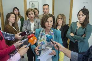 María José Sánchez responde a los medios este lunes.