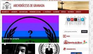 Imagen del 'hackeo' publicado por @ANONSPAIN_ y en su página de facebook.