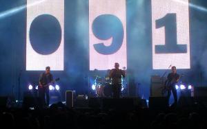 Los 091, durante su actuación en Motril.