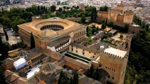 Vista aérea de la Alhambra.