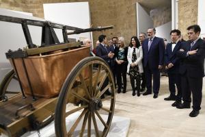 Inauguración de la exposición en el Palacio de Carlos V.