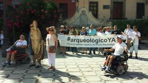 Una de las últimas manifestaciones del Arqueológico.