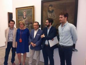 Inauguración de la exposición en el Museo de Bellas Artes.