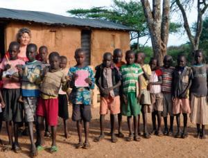 Niños de una de las guarderías que atiende Calor y Café en Kenia.