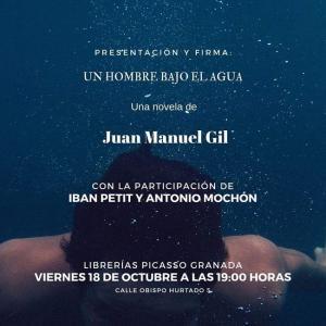 Cartel de la presentación de 'Un hombre bajo el agua'.