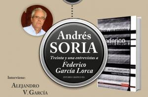 Cartel de la presentación del libro de Andrés Soria.