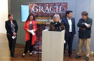 Inauguración de las jornadas 'Ciudades creativas de la Unesco'.