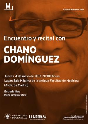 Cartel del recital de Chano Domínguez.