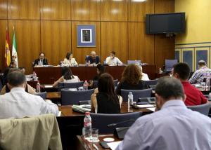 Un momento de la Comisión de Cultura celebrada este miércoles en el Parlamento.