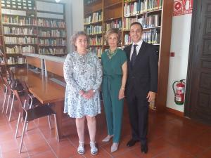 María Teresa Heredia, Antonia Riquelme e Ignacio Clemente.