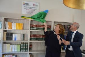 La diputada de Cultura y el alcalde de Torvizcón.