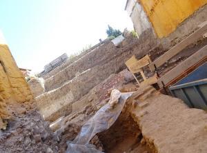 Excavación en el solar que ocupaba la Casa de los Tintes.