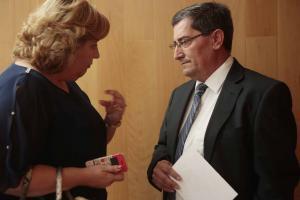 Entrena, con la diputada de Cultura y Memoria Histórica y Democrática.