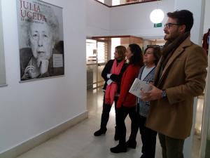 Inauguración de la exposición sobre Julia Uceda.