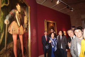 Rosa Aguilar, en la inauguración de la exposición.