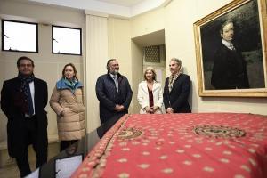 La consejera de Cultura, este miércoles en una visita al carmen de Rodríguez Acosta.