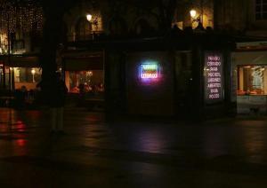 Instalación en la Plaza Bi-Rambla.