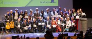 Foto de familia de los galardonados con los VI Premios Lorca del Teatro Andaluz.