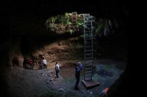Espectacular imagen del interior de la mazmorra Grande del Secano.