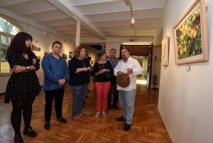Inauguración de la muestra, en el Palacio de Niñas Nobles.