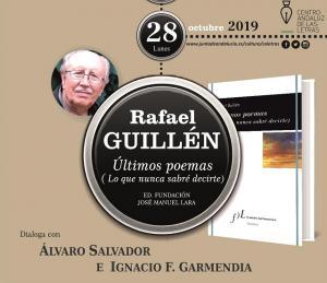 Cartel del evento literario.