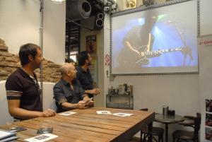 Presentación de las exposiciones en el Lemon Rock.