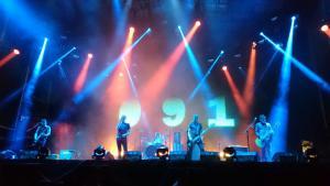 Los Cero, durante su actuación en el Low Festival.