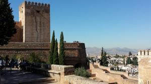 El recinto de la Alhambra, este martes.