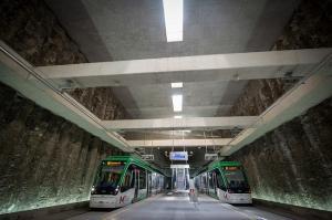 Estación el metro de Alcázar de Genil, en cuyas obras descubrió un tesoro oculto.