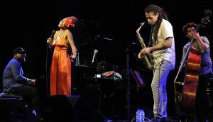 Jazzmeia Horn, en su actuación de anoche.