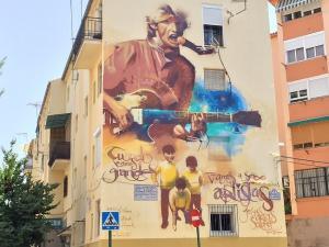 Espectacular mural dedicado a Jesús por el Niño de las Pinturas.